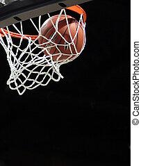 basketballnetz, gehen, durch
