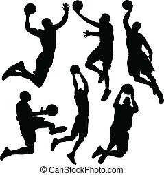 basketboll, silhuett