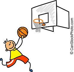 basketboll, unge