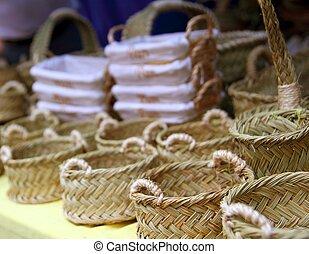 Basketry basketwork Spain enea esparto basket