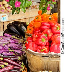 Baskets of peppers 2