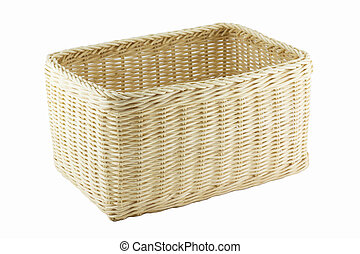 Basketwork isolated on the white background