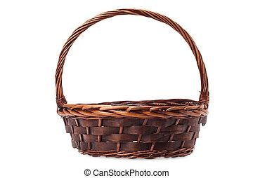 basketwork isolated on white background