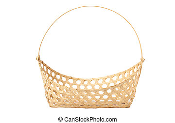 basketwork isolated on white background with path