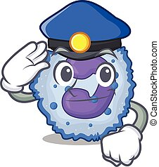 Basophil cell Cartoon mascot performed as a Police officer. ...