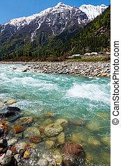 Baspa river in Himalayas