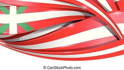 basque banner background flag. vector flag