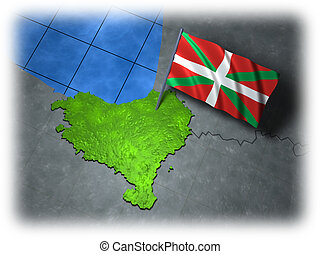 Basque country with its own flag