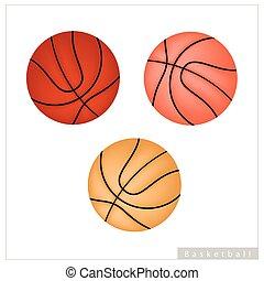 basquetebol, bola branca, jogo, fundo
