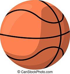 basquetebol, desporto, caricatura, bola
