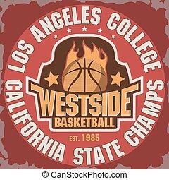 basquetebol, emblema, equipe