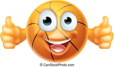 basquetebol, personagem, caricatura, bola, homem