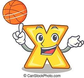 basquetebol, personagem, sinal, multiplicar, logotipo, caricatura