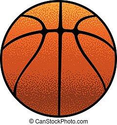 basquetebol, textured
