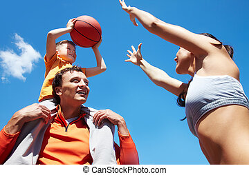 basquetebol, tocando
