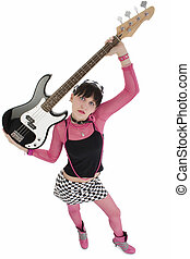 Bass Babe In Pink And Black