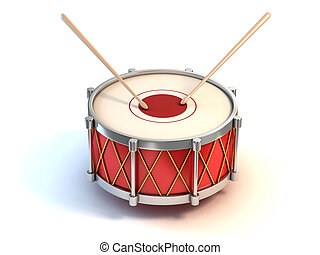 bass drum instrument 3d illustration