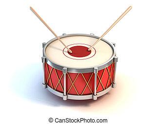 bass drum instrument - bass drum instrument 3d illustration...