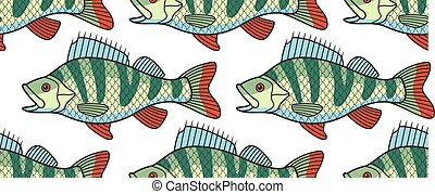 Bass fish pattern