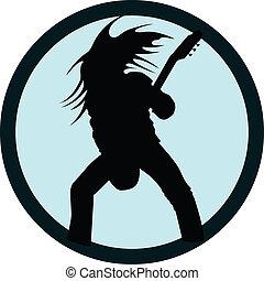 bass guitar rock star vector