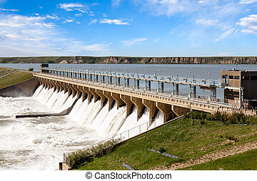 Bassano Dam in Alberta, Canada - Powerful dam in the town of...