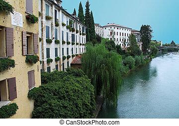 Bassano del Grappa village italy