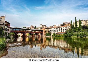Bassano del Grappa with Bridge of the Alpini