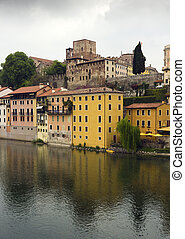 bassano village - beautiful view of the romantic, Italian ...