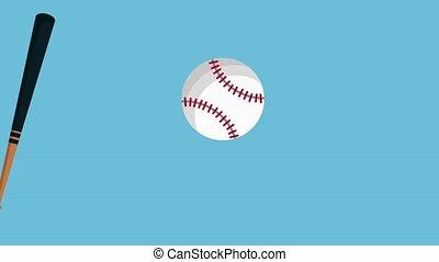 basseball bat and ball animation