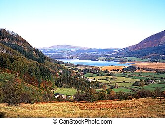 Bassenthwaite Lake, Cumbria, UK.