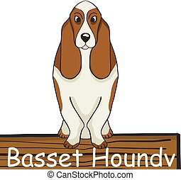 Basset Hound cartoon dog icon