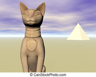 Bast of the Pyramids - Statue of Egyptian god Bast