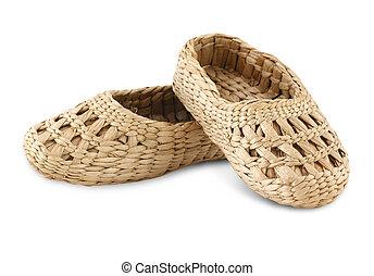 bast shoes isolated on white