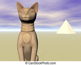 bast, van, de piramides