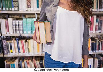 bastante, estudiante, tenencia, libros
