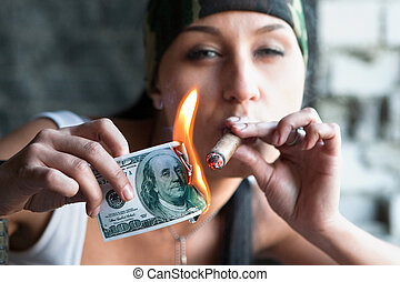 bastante, fumador
