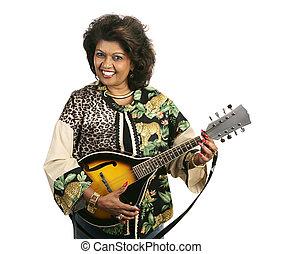 bastante, jugador, mandolina