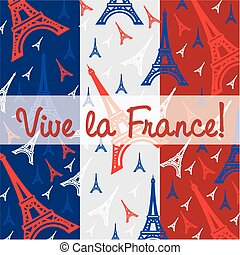 Bastille day greeting card with the national flag of vectors bastille day card in vector format m4hsunfo
