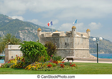 Bastion in port of Menton