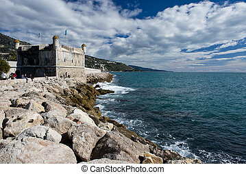 Bastion Museum of Menton. - Menton, fishing village situated...