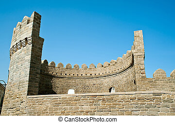 Bastion of the old town of Baku, Azerbaijan