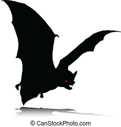 bat alone vector silhouettes
