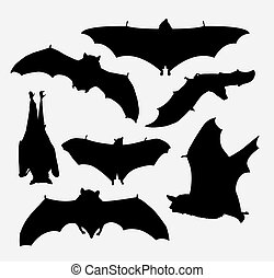 Bat animal silhouette