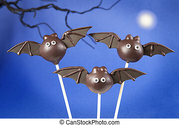 Bat cake pops
