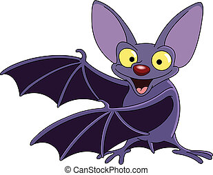 Bat - Cartoon bat presenting with his wings