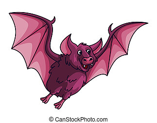 Bat Cartoon Illustration