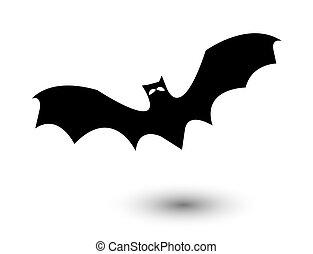 bat on white background