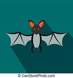 Bat flat icon with shadow
