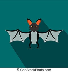 Bat flat icon with shadow