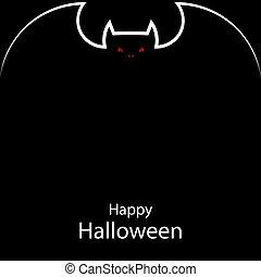 bat halloween poster